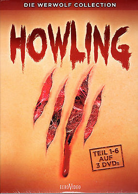 Howling Collection , Part 1-6 , 100% uncut , 3 DVDs , new & sealed , Das - Halloween 6 Part 1