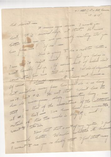 12/15/1918 US Officers Letter and Cover Rouan France.  to Missouri Lt H Muench