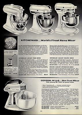 1954 PAPER AD Kitchenaid Electric Food Mixer 3 4 5 Quart General Mills