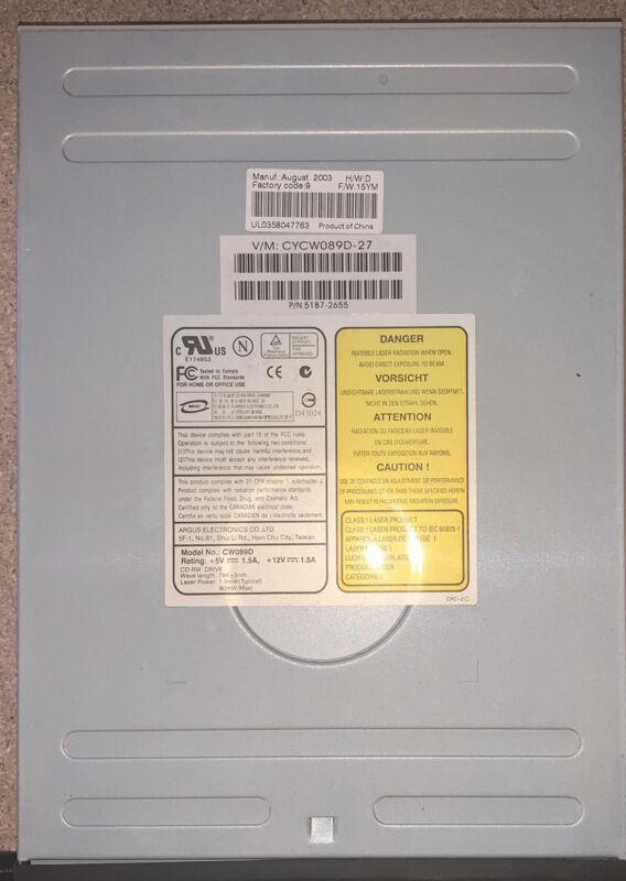 Plextor PX-116A2 Dvd-Rom CD - ROM Reader Drive Ide 40-POL Pin Drive Optical Ata