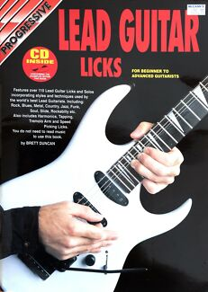 Wanted: Lead Guitar Licks by Progressive - Book & CD