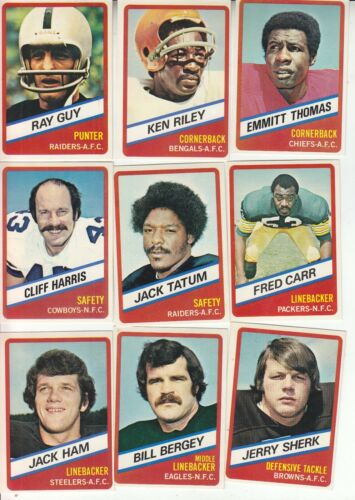 TWO SETS  24  1976 TOPPS WONDER BREAD ALL-STAR SERIES COMPLETE SET FOOTBALL