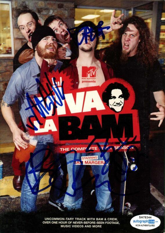 """""""Viva La Bam"""" AUTOGRAPHED Complete First Season DVD Signed X Bam Margera +3 ACOA"""