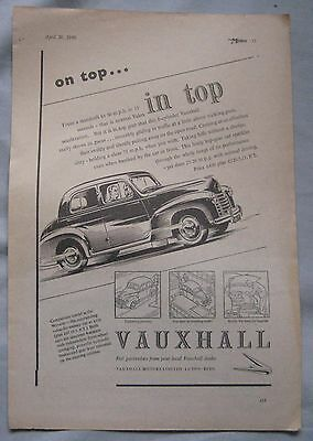 1949 Vauxhall Original advert No.5