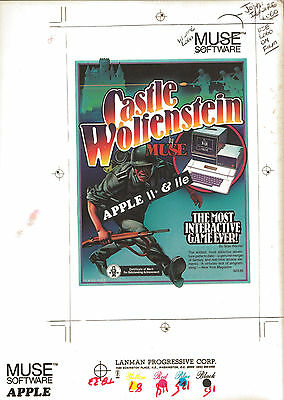 CASTLE WOLFENSTEIN LIMITED EDITION ORIGINAL ARTWORK PRINT