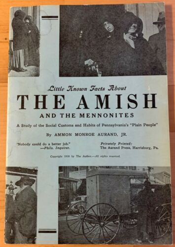 Book   The Amish and the Mennonites - History Booklet - 1938