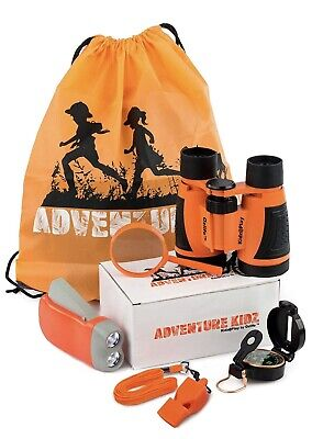 Adventure Kidz Nature Exploration Toys - Outdoor Kit, Childrens Binoculars, Kids