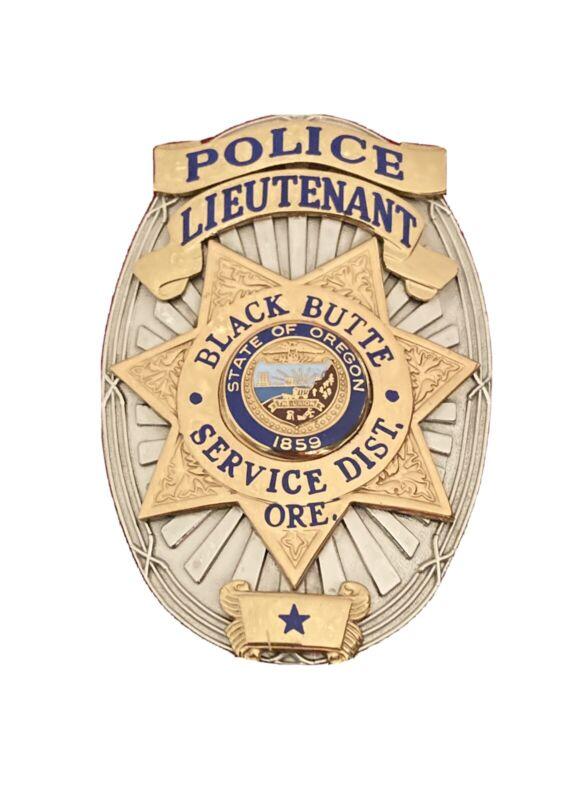 OBSOLETE OREGON OR BLACK BUTTE RANCH SERVICE DISTRICT POLICE LIEUTENANT LT HMV&V
