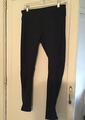 Fabletics High Waisted Leggings * Medium. Black Color *Mesh Sides