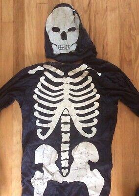 Halloween Skeleton Old Vintage Costume 1940's / 50's Halco Collegeville