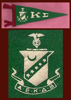 VINTAGE Kappa Sigma Fraternity College Pennant! WOW !