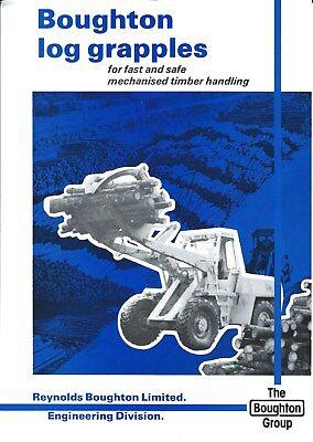 Equipment Brochure - Boughton - Log Logging Timber Grapples For Loader E4815