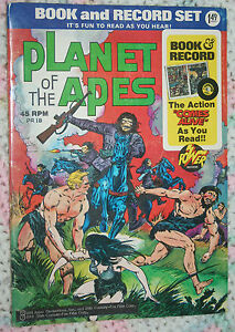 Planet of the Apes Movie adaption Bronze age Power Records book only g/vg