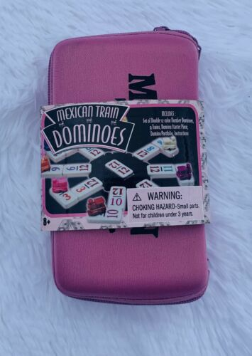 Mexican Train Dominoes In Pink Travel Case New  - $15.99
