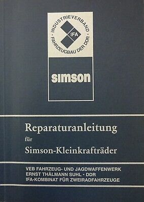 Handbuch Reparaturanleitung SIMSON S 50 Schwalbe KR 51 51/1 Star SR 4 DDR Stil