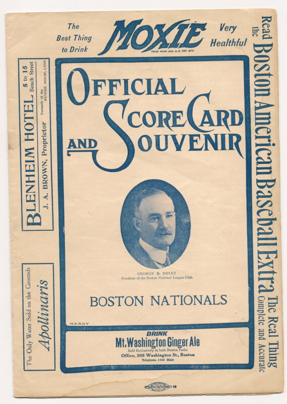 1908 Boston Doves/Braves-Phillies Program 107 Year Old Treasure RARE!!
