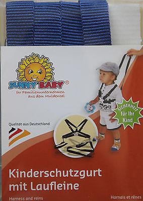 Sunnybaby Kinderschutzgurt Kinderwagengurt Sicherheit Nylon Blau Lauflerngurt