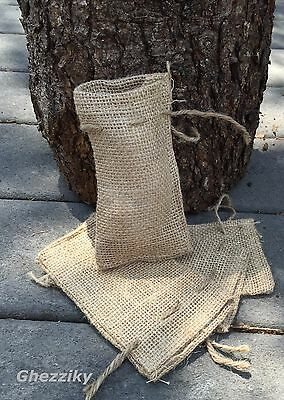 Small Burlap Bags with Natural Jute Drawstring - Sack Favor Bag - 2x3