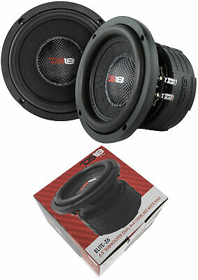 """2x DS18 Z6 Elite 1200W Max Dual 4 Ohm Voice Coil 6.5"""" Subwoofer Bass"""