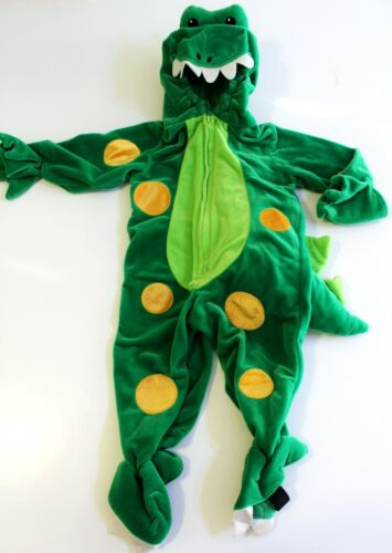 Dragon Dinosaur Crocodile Halloween Costume Size 18 Months Plush Green Hooded