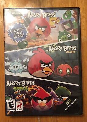 Angry Birds 3-pack of Action Adventure Computer Games --- New Free Shipping Free Action Computer Games