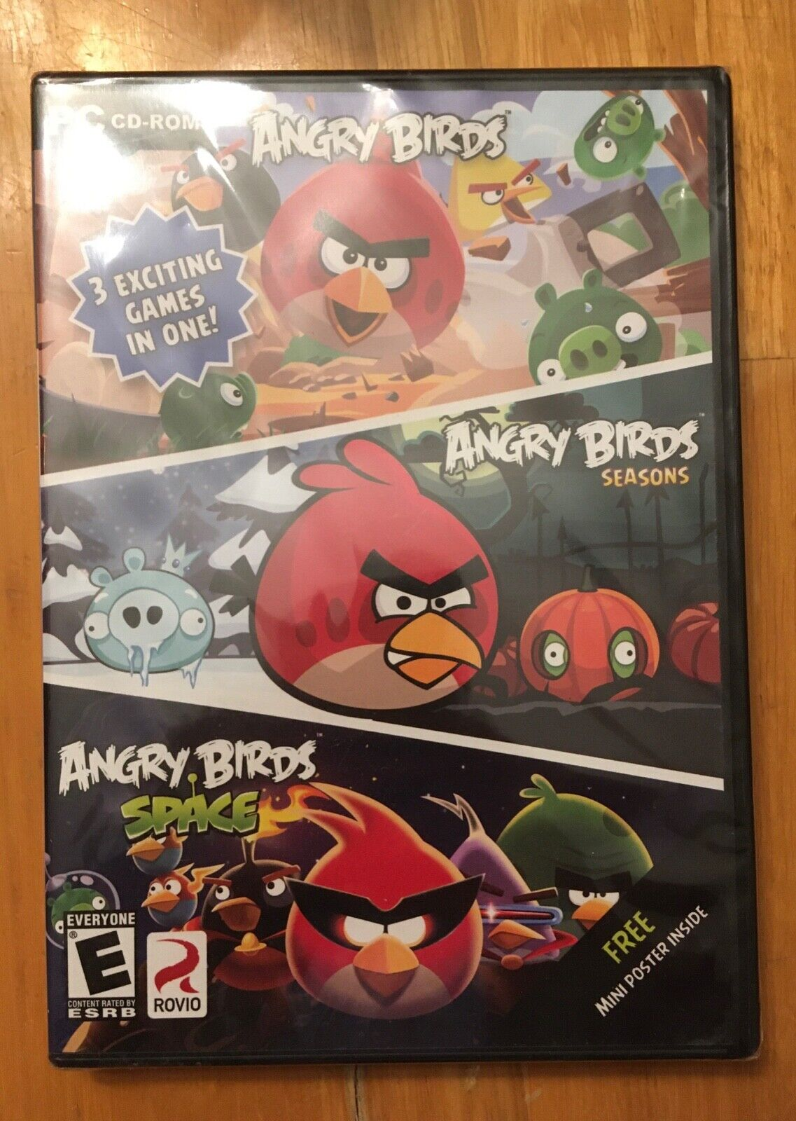 Computer Games - Angry Birds 3-pack of Action Adventure Computer Games --- New Free Shipping