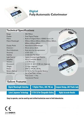 Digital Fully Automatic Colorimeter Other Medical Lab Equipment