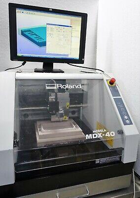 Roland Mdx-40a 3d Cnc Mill Mililng Machine System Mdx-40 W Pc