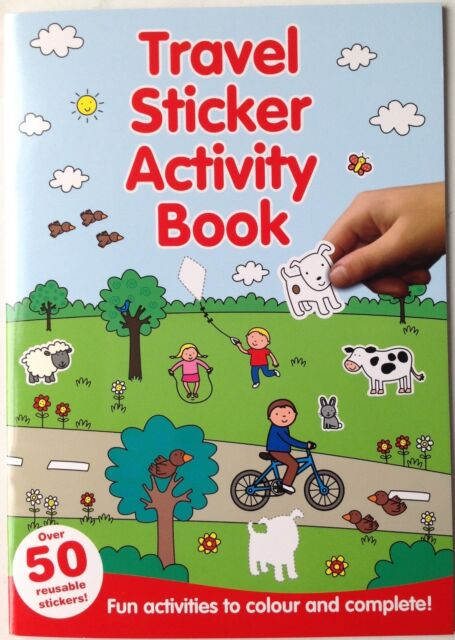 Travel Sticker Book - red cover