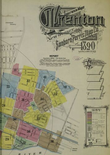 Trenton, New Jersey~Sanborn Map©sheets with 43 maps made in 1890