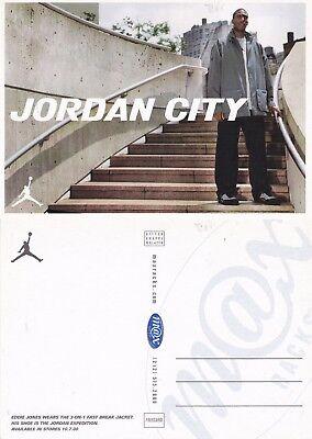 EDDIE JONES PROMOTES JORDAN CLOTHING RANGE UNUSED ADVERTISING COLOUR POSTCARD a