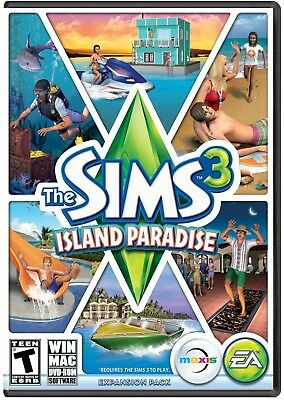 The Sims 3 Island Paradise Expansion Pack Pc Mac Video Game Tropical Vacation