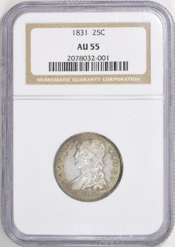 1831 Capped Bust Quarter 25C NGC AU55 nice luster