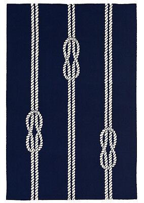 Nautical Outdoor Rugs (AREA RUGS - NAUTICAL KNOTS INDOOR OUTDOOR RUG - NAVY - 7'6
