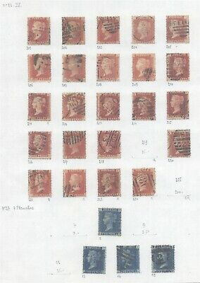 GB Victoria - Classic Lot of Used Stamps on Collector Page D113