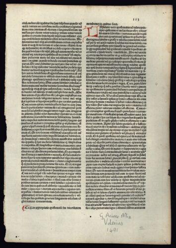 """INCUNABLE 1491 """"Factorum ac dictorum memorabilium libri IX"""" By Valerius Maximus"""