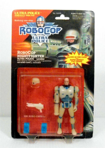 RoboCop and the Ultra Police Nightfighter Robocop Mint on Card Kenner 1988