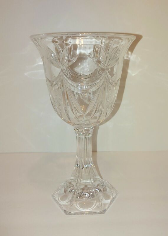 Crystal Vase/Candle Holder 24% Lead Crystal by Godinger Shannon Design Vintage