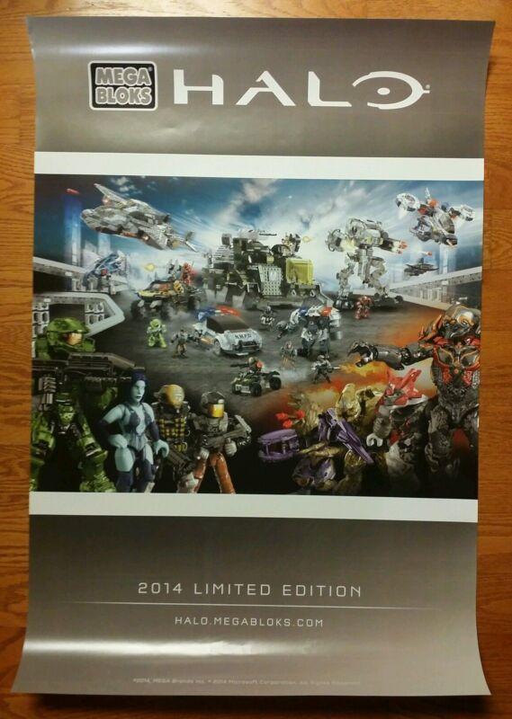 SDCC 2014 Comic Con Exclusive Mega Bloks Halo  Limited Edition Poster Very Rare