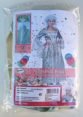 Rokoko Frau Damenkostüm ONE SIZE Einheitsgröße Kleid Erwachsenen Kostüm weiß /89 ()