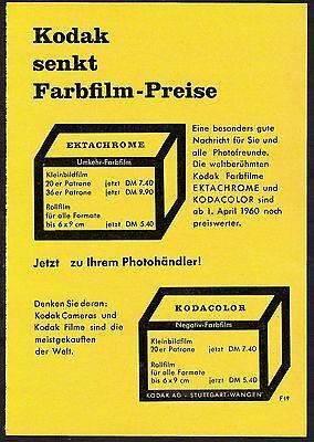 3w1673/ Alte Reklame von 1960 - KODAK-Film - Kodak Stuttgart