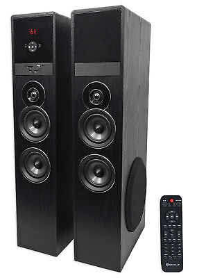 """Rockville TM80B Bluetooth Home Theater Tower Speaker System w/(2) 8"""" Subwoofers!"""