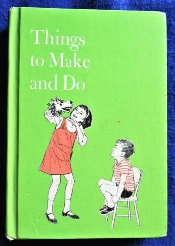 Things to Make and Do Esther Bjoland Vintage c1969 HC Children Kids Craft Book