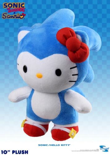 "SONIC x HELLO KITTY 10"" DELUXE PLUSH NIB - Toynami"