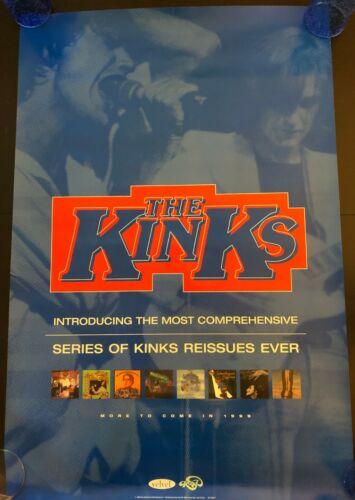 KINKS ESSENTIAL REISSUES ORIGINAL PROMO POSTER NEVER HUNG 24X36 1999 RAY DAVIES