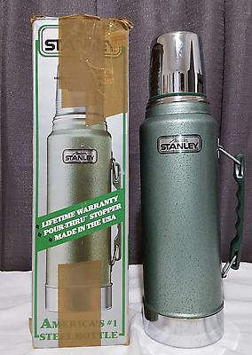 Aladdin Stanley 1 Quart Thermos Side Handle Insulated Walls Pour Thru Stopper