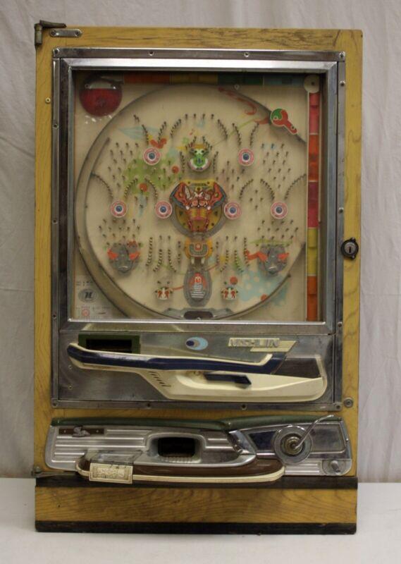 Vintage Nishijin Pachinko Machine Early 1975, Shiroi Kamome, Ebira, Elex Rotary.