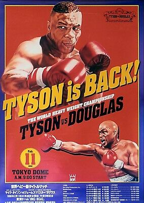 MIKE TYSON vs BUSTER DOUGLAS 8X10 PHOTO BOXING POSTER PICTURE TOKYO