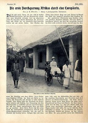 Frau Cabra Belgien Erste Durchquerung Afrikas durch eine Europäerin Kabamare1907