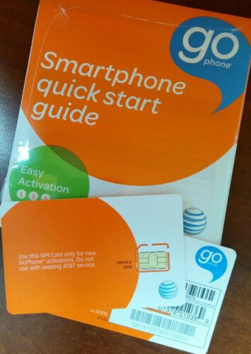 AT&T PREPAID GO PHONE 4G MICRO SIM CARD. NEW UNACTIVATED. SKU#6007a